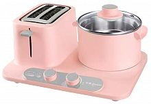Тостер-плита Xiaomi Donlim Multifunctional Breakfast Machine Pink (Розовый) — фото